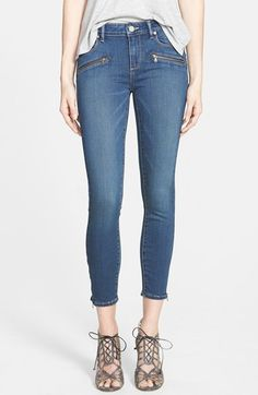 Paige Denim 'Jane' Exposed Zipper Crop Jeans (Lex No Whiskers) available at #Nordstrom