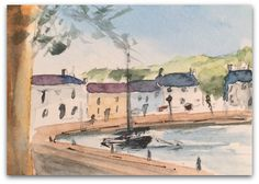 Harbour painting ORIGINAL Miniature Watercolour by StudioHydeArt #original #watercolour #painting #harbour #wales #aberaeron #seascape View here: https://www.etsy.com/uk/listing/497376252/harbour-painting-original-miniature?ref=shop_home_active_1