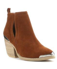 $18.29 Camel Maple Bootie #zulilyfinds