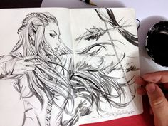 Sketch, Tauriel by eDufRancisco.deviantart.com on @deviantART