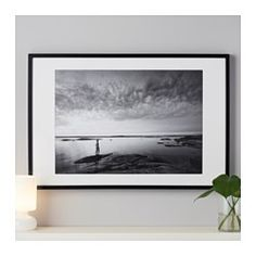"IKEA - RIBBA, Frame, 24x35 ¾ "", , Can be hung horizontally or vertically to fit in the space available.The mat is acid-free and will not discolor the picture.Can also be used without mat, to take a larger picture."