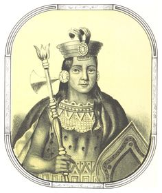 "Justo Apu Sahuaraura (1770 - ?) - retirado do livro ""Recurdos de la Monarquia Peruana o Bosquejo de la Historia de los Inca"" (1836-38)"