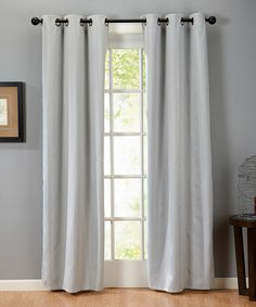 Love this Platinum Blackout Stripe Curtain Panel - Set of Two by Home Fashion Distributors on #zulily! #zulilyfinds