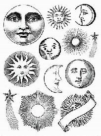 Suns Moons Stars Vintage Engravings 12 Unmounted Rubber Stamps from www.eCrafty.com #ecrafty @KD Eustaquio at eCrafty.com