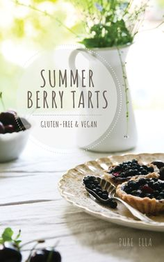 Summer Berry Tarts.   Very easy to put together & bake.  *GF