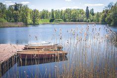 Нижний пруд. Лодочная станция. Приятное место для неспешных прогулок и размышлений.