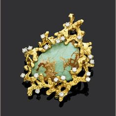 A suite of turquoise and diamond jewellery by Andrew Grima