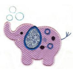 Roly Poly Elephants Applique-Single, Designs By JuJu Machine Embroidery Store View Baby Girl Elephant, Elephant Baby Showers, Cute Elephant, Embroidery Store, Machine Embroidery Applique, Cross Stitch Embroidery, Elephant Quilt, Elephant Applique, Baby Girl Quilts