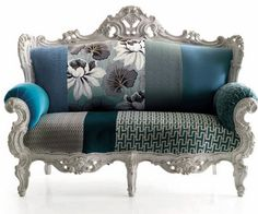 don't know about that couch but love the mix of fabrics