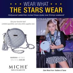 Eden Wood from Toddlers & Tiaras with a Miche Hip Bag. Get yours for a limited time. #handbags #miche #celebrity #emmys