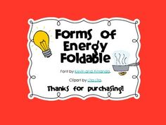 {Science Notebook} – Forms of Energy Foldable – solorenergy Third Grade Science, Middle School Science, Elementary Science, Science Classroom, Teaching Science, Classroom Ideas, Science Vocabulary, Science Resources, Science Lessons