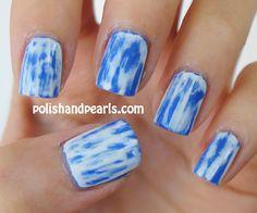 acid washed jean nails
