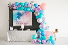 Check out Scarlett Events Party Kits Happy Birthday Decor, Birthday Themes For Boys, First Birthday Decorations, Birthday Tags, Happy Birthday Cake Topper, Girl First Birthday, Unicorn Party Hats, Unicorn Party Invites, First Birthday Invitations