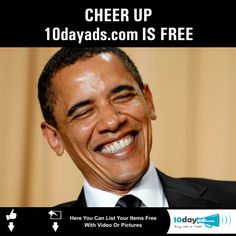 Cheer Up 10dayads.com is FREE  #Postfreeads #Freeadvertisement #Freeonlineclassifieds #Localclassifiedads #FreeClassifiedads