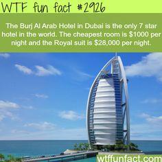 Burj Al Arab is a luxury hotel located in Dubai. It has been called (The world's only 7 star Hotel) and is the third . In Dubai, Dubai Hotel, Dubai City, Dubai Uae, Burj Al Arab, National Geographic, Hotel World, Dubai Skyscraper, Wtf Fun Facts