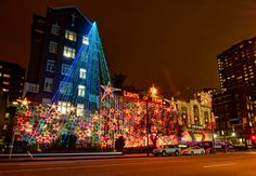 Stroll by St. Paul's hospital to see the Lights of Hope. This is an annual fundraiser.   Photo via Neil Millar