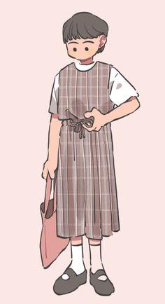 Fashion Illustration Sketches, Character Illustration, Art Sketches, Illustration Art, Illustrations, Kawaii Anime Girl, Anime Art Girl, Muse Kunst, Muse Art