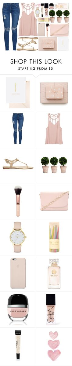 """""""►Happy Birthday to Me◄ (Top Set 5/3/16)"""" by antisocial-vagabond ❤ liked on Polyvore featuring Sugar Paper, Current/Elliott, RVCA, Roger Vivier, Forever 21, Kate Spade, Caspari, Black Apple, Tory Burch and Marc Jacobs"""