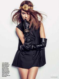 Jac Jagaciak in Vogue Brazil with Monika Jagaciak wearing Balenciaga,Dolce