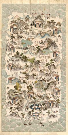 Antique Map of China, Hainan Region 1820