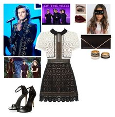 """""""AMA's with Harry"""" by cc-quinn ❤ liked on Polyvore featuring Revlon, self-portrait, Givenchy, Forever 21, women's clothing, women's fashion, women, female, woman and misses"""