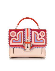 Paula Cademartori Petite Faye Nude Leather Satchel at FORZIERI Types Of  Handbags ac8bfe66490d8