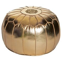 My design inspiration: Moroccan Pouf Gold on Fab.