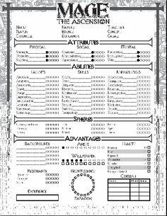 121 Best Gaming Character Sheets Addshadowrunspelljammeretc