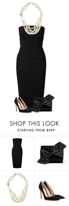 """""""Little black dress in modern style"""" by dida-zalesakova ❤ liked on Polyvore featuring Victoria Beckham, Alexis Bittar, Gianvito Rossi, modern, women's clothing, women, female, woman, misses and juniors"""