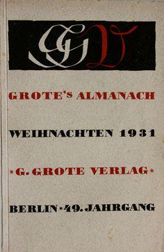 Grote's Almanach Weihnachten 1931, Berlin: G. Grote Verlag, (1931). Cover by Georg Salter.