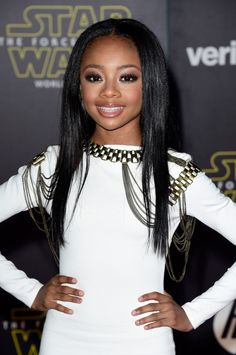 "Actress Skai Jackson attends the premiere of Walt Disney Pictures and Lucasfilm's ""Star Wars: The Force Awakens"" at the Dolby Theatre on December 14th, 2015 #1 Source for Black Ladies"