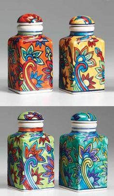 Handpainted Ceramic Spice Jar