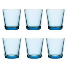 iittala Kartio Glass 6 pcs. light blue