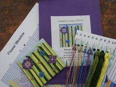 Meadow Flowers, Cross Stitch, Cotton, Punto De Cruz, Seed Stitch, Cross Stitches, Crossstitch, Punto Croce