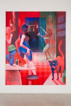 Chris Ofili, Peter Doig, and Lisa Brice Bring Trinidad to New York Painting Inspiration, Art Inspo, Illustrations, Illustration Art, African Artists, Art For Art Sake, Acrylic Art, Art Sketchbook, Cat Art