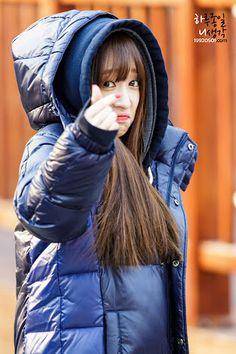 EXID ♡ Hani.  She's cute, n friendly , just love her.