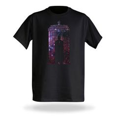 10th Doctor Galaxy Silhouette - now available in a straight-cut!