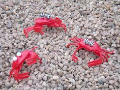 Crabs made with plastic silverware