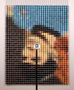 Devorah Sperber's Spock 1, 2007, made of 1102 spools of thread