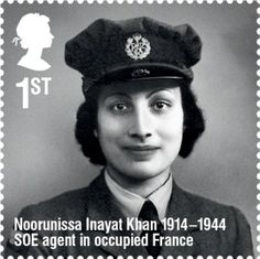 Noor Inayat Khan - Muslim Woman, WW2 Secret Agent, radio operator in occupied Paris, refused to carry a weapon to honor her pacifist beliefs, captured by the Nazis, escaped from them twice, finally executed by them. Posthumously awarded the French Croix de Guerre and the British George Cross.