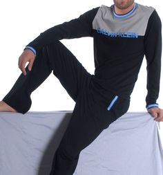 Pijama Calvin Klein Hombre M9701E + M9700E Negro