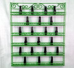 Pana Nail Polish Display Organizer Metal Wall Mounted Rack - Fit up to 126 Nail Polish Bottles - For Home Salon Business Spa etc. Green Color >>> Be sure to check out this awesome product.