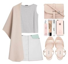 """""""Anna"""" by designbecky ❤ liked on Polyvore featuring MANGO, philosophy, Miu Miu, Lancôme and M.N.G"""