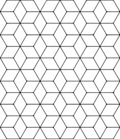 Tessellation With Rhombus Coloring Page Tessellation Patterns
