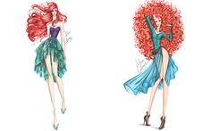 Ilustrador cria croquis de moda com as princesas da Disney - Moda - CAPRICHO