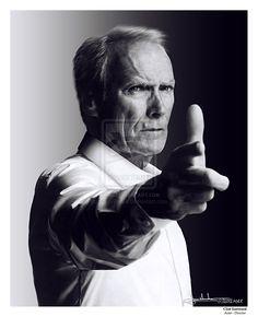 Clint Eastwood - Film Director Portrait by ~MaxHitman on deviantART