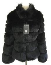 New Look Braga Fox Fur Collar