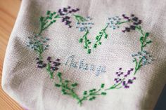 Highest CLIMBer on Butterfly in the Attic - Part of the APRIL 2016 #ChainLinkyCLIMB by: http://www.artinmess.ru/2016/02/heart-wreath-lavender-cross-stitching.html