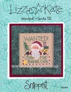 Buy Wanted! Santa '02 Chart Online at www.sewandso.co.uk