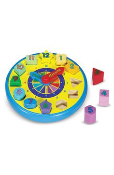 Free shipping and returns on Melissa & Doug Shape Sorting Clock at Nordstrom.com. Bright clock face with moveable hands and shaped pieces is a fun way to teach kids how to tell time. For E